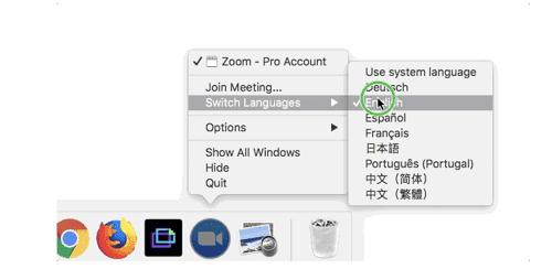 como cambiar el idioma a ingles en Zoom