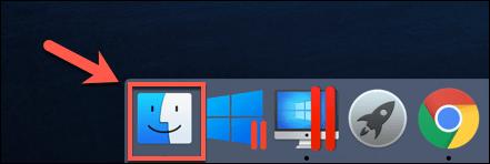 El icono del Finder en MacOS Dock