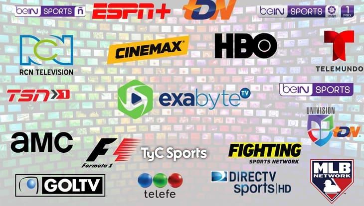 Exabytetv: Lista de canales Latinos M3U (Smart TV, Windows, Linux, Android, IOs,)