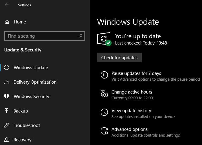 Windows 10 May 2019 Windows Update