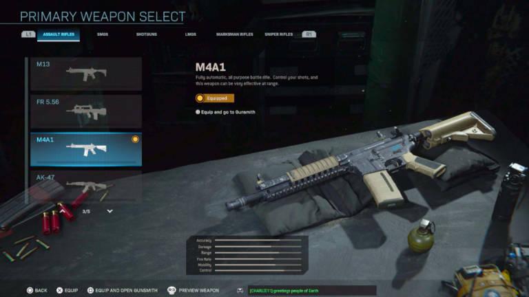 lista de armas de Warzone de nivel S