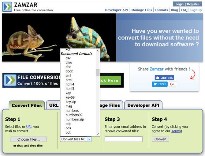 free online file converter tools