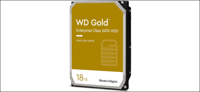 Un disco duro WD de 18 TB.
