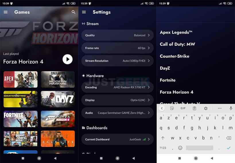 Rainway : Application Android