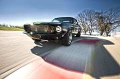 electric-1968-ford-mustang-fastback-on-course