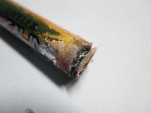 LIFELEXの液漏れしたアルカリ電池