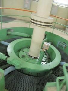 恵那峡 大井ダムの発電所で使われている水車