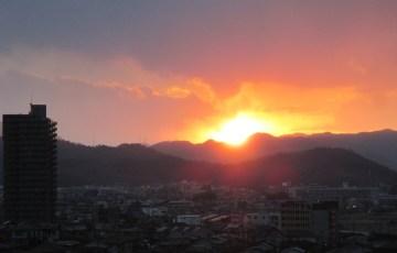 宝泉寺禅センターからの夕焼け