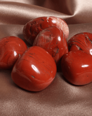 Red Jasper tumbled 1-4cm crystals Red Opaque