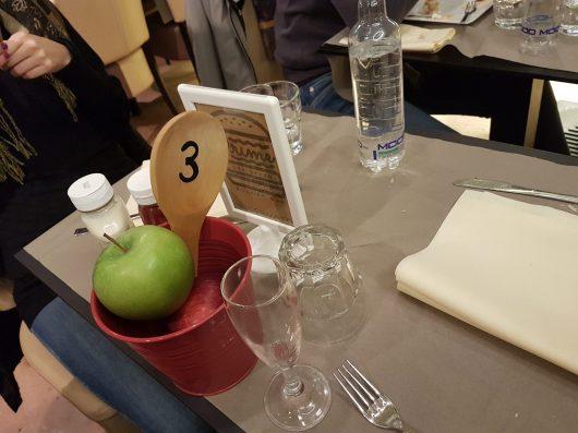 Dettagli del tavolo