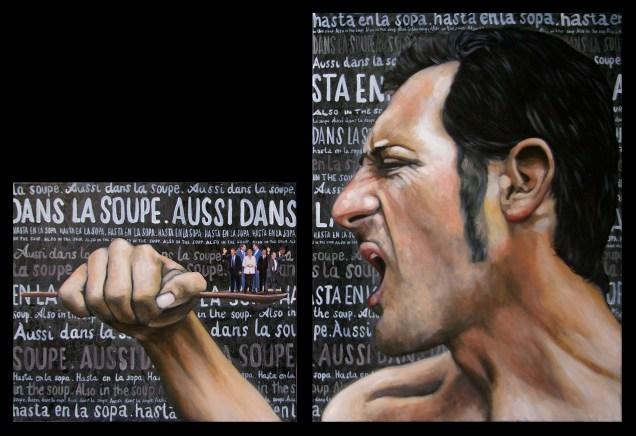 La France / 2012/ 50 X 60 + 80 X 60 cm / huile et collage sur toile