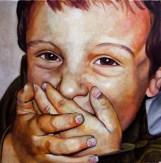 Lucas / 50 x 50 cm / huile sur toile