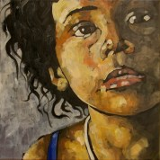María Chacagua / 40 x 40 cm / huile sur toile
