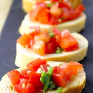 Tomato & Basil Bruschette