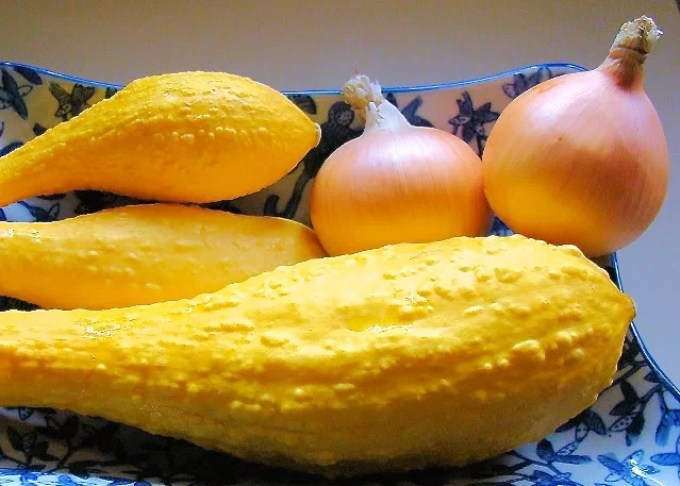 ingredients for yellow squash soup