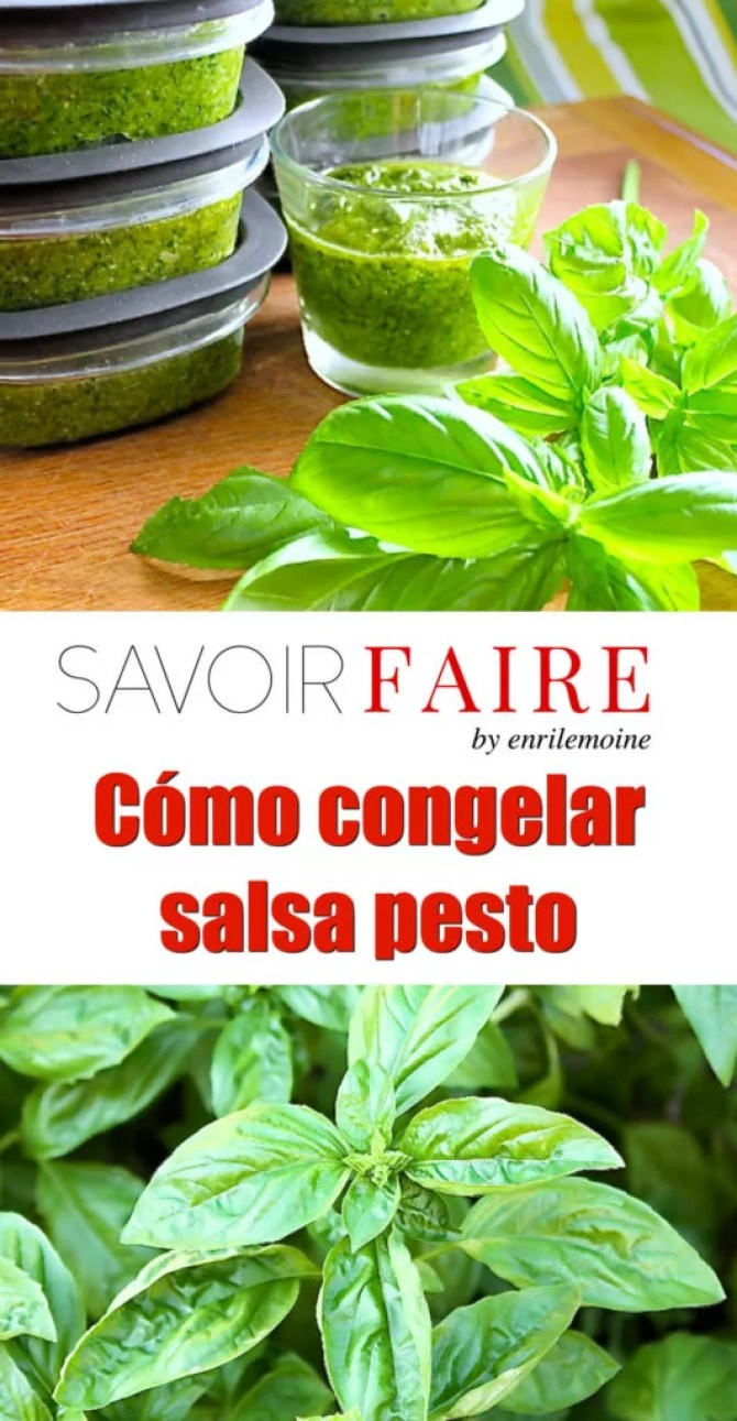 Congelar pesto - SAVOIR FAIRE by enrilemoine