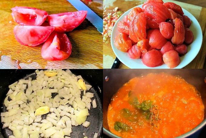 Process to make basic tomato sauce