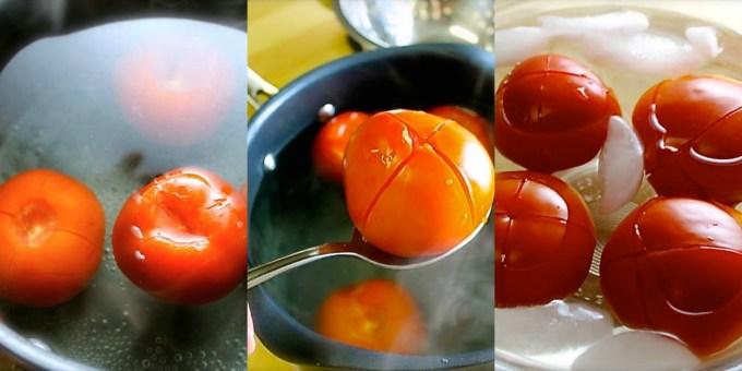 How to peel tomatoes, tomatoes, peeling tomatoes