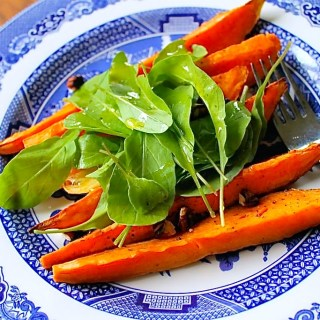 Roasted Sweet Potatoes with Pecans and Arugula -SAVOIR FAIRE by enrilemoine