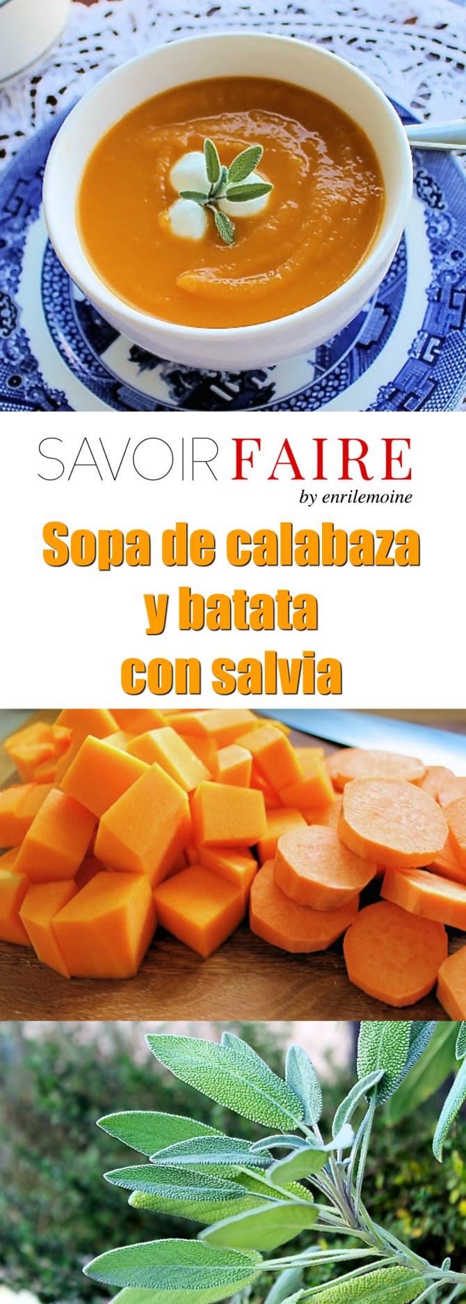 Sopa de calabaza y batata con salvia - SAVOIR FAIRE by enrilemoine