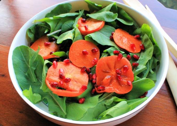 Persimmon Salad with Pomegranate - SAVOIR FAIRE by enrilemoine