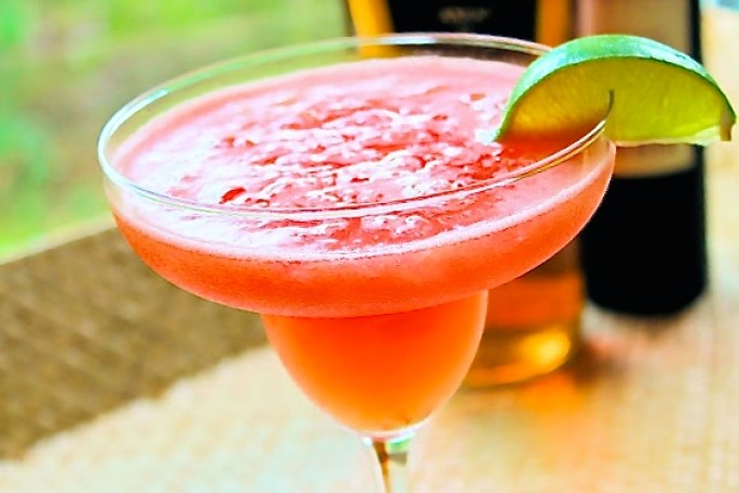 firecracker rum and watermelon cocktail