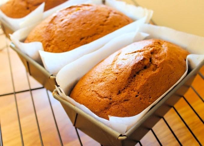 pumpkin spice bread, loaves of pumpkin spice bread