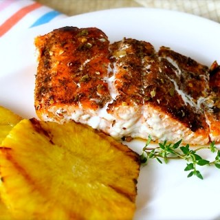 Grilled Salmon with a Spice & Thyme Rub