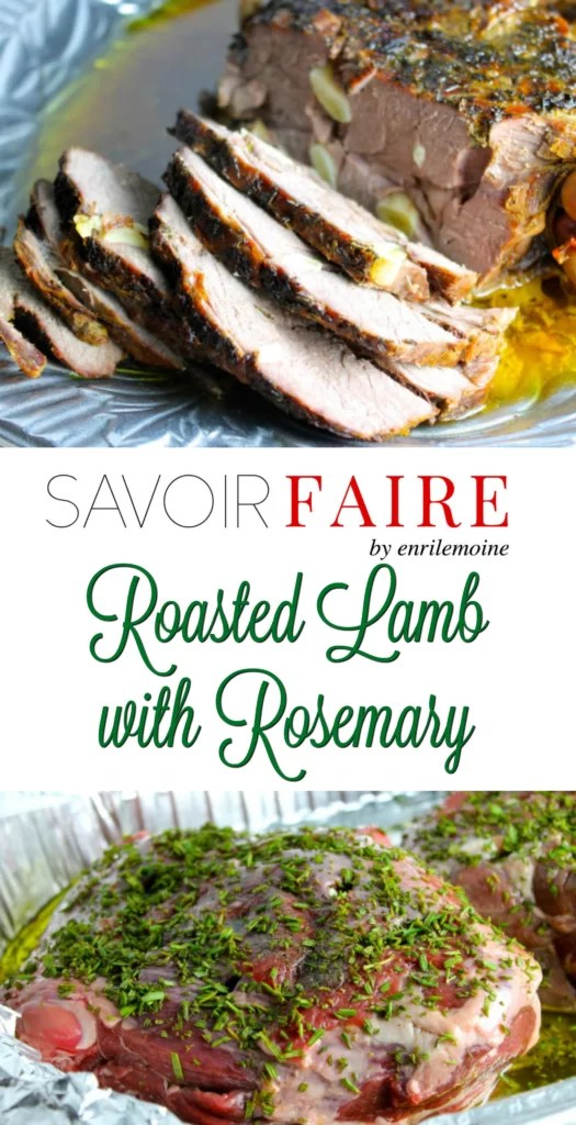 Roasted leg of lamb with rosemary crust - SAVOIR FAIRE by enrilemoine