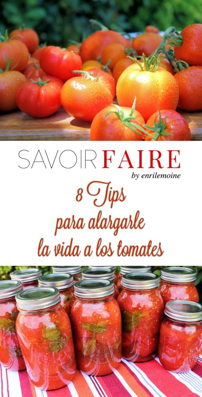 Comprarlos en la vid, no refrigerarlos, ponerlos con el pedúnculo hacia abajo son algunos de los tips súper útiles para alargarle la vida a los tomates. Haz clic para leer la lista completa.