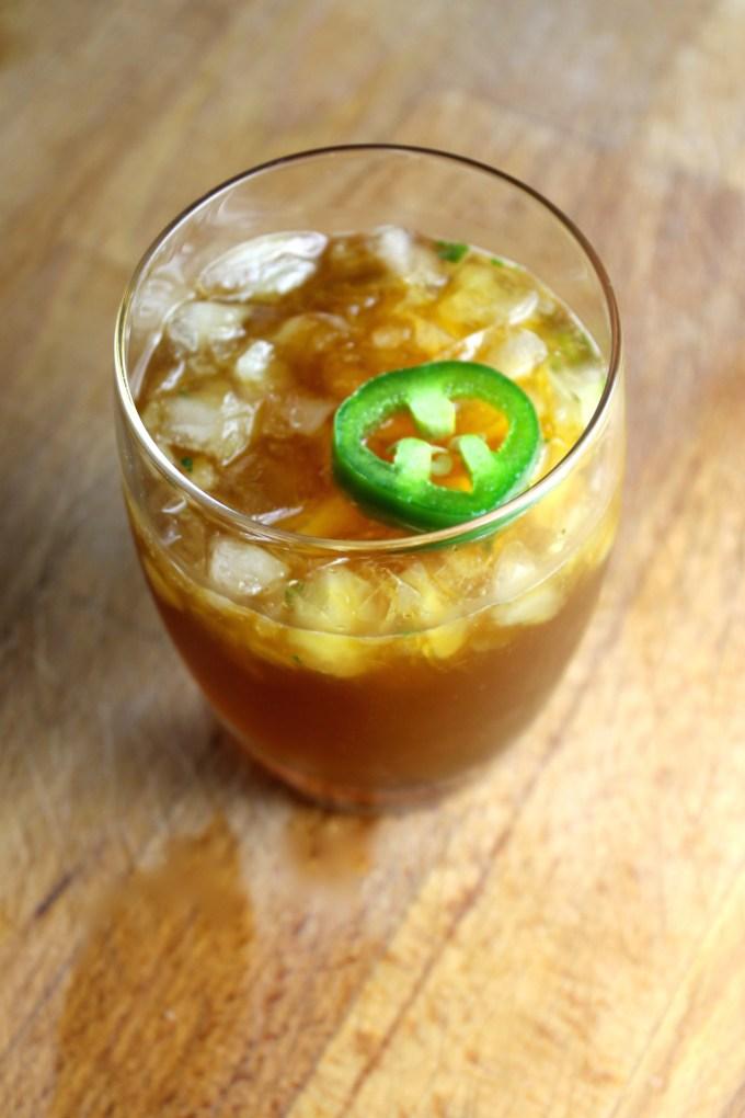 Margarita de cilantro y jalapeño
