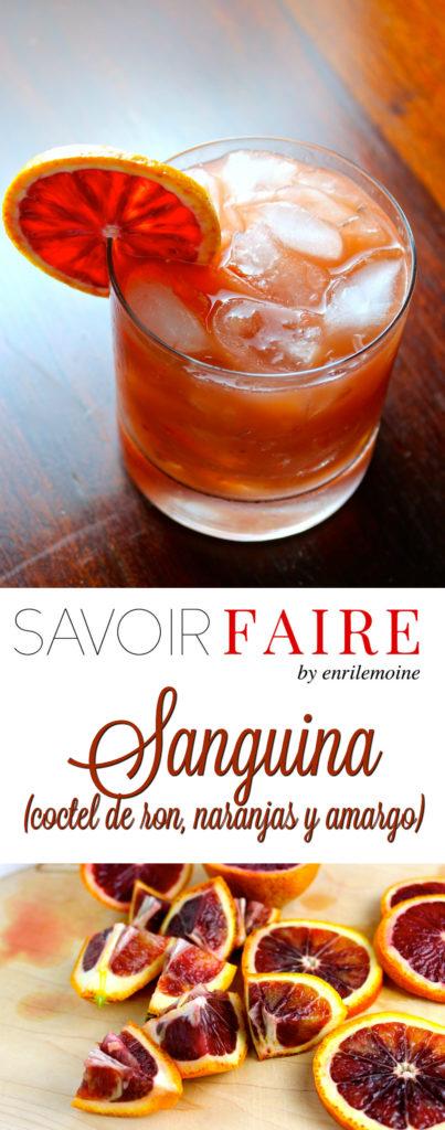 Sanguina, coctel de ron, naranjas y amargo - SAVOIR FAIRE by enrilemoine