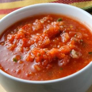 Salsa de tomates crudos