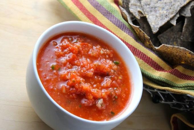 Salsa de tomates crudos, salsa de tomates, salsa