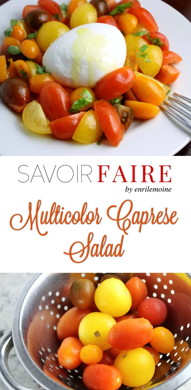 This multicolor Caprese salad is proof that cooking can be in Technicolor. Multicolor tomatoes give a fun touch to this classic of the Italian gastronomy. Click for the recipe.