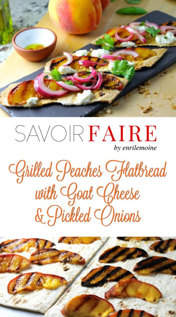 Grilled Peaches Flatbread - SAVOIR FAIRE by enrilemoine