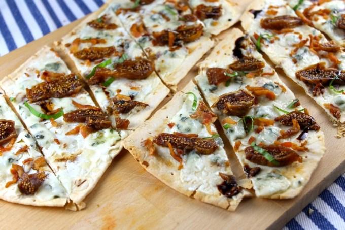 Reducción de vinagre balsámico - Flatbread pizza con higos y gorgonzola - SAVOIR FAIRE by enrilemoine