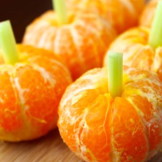 Calabazas de mandarinas para Halloween