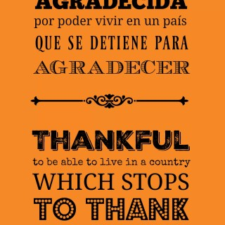 Agradecida