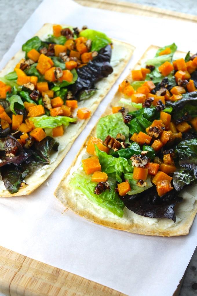 Calabaza en ensalada sobre flatbread - SAVOIR FAIRE by enrilemoine