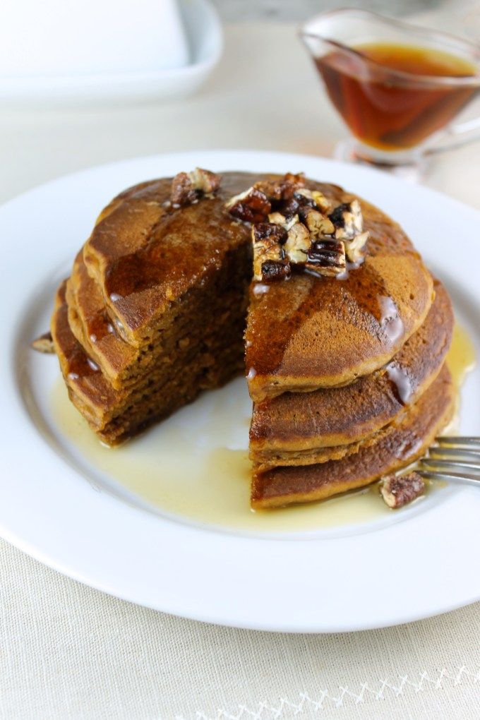 Sweet Potato Pancakes with Candied Pecans - SAVOIR FAIRE by enrilemoine