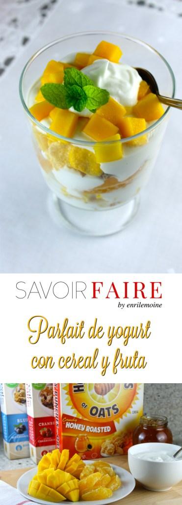 Parfait de yogurt con cereal y fruta - SAVOIR FAIRE by enrilemoine