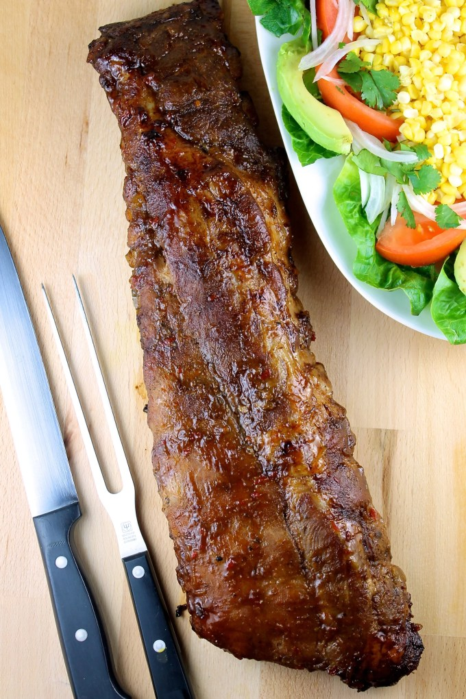 Finger-Licking Grilled Pork Ribs with Mango BBQ Sauce - SAVOIR FAIRE by enrilemoine