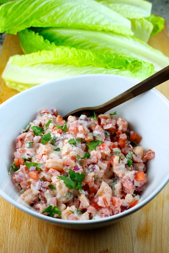 Tacos de lechuga con ceviche de camarón - SAVOIR FAIRE by enrilemoine