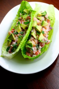 Lettuce Tacos with Shrimp Ceviche - SAVOIR FAIRE by enrilemoine