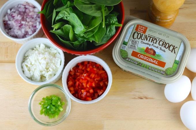 ingredientes para hacer quiche de espinaca y queso de cabra