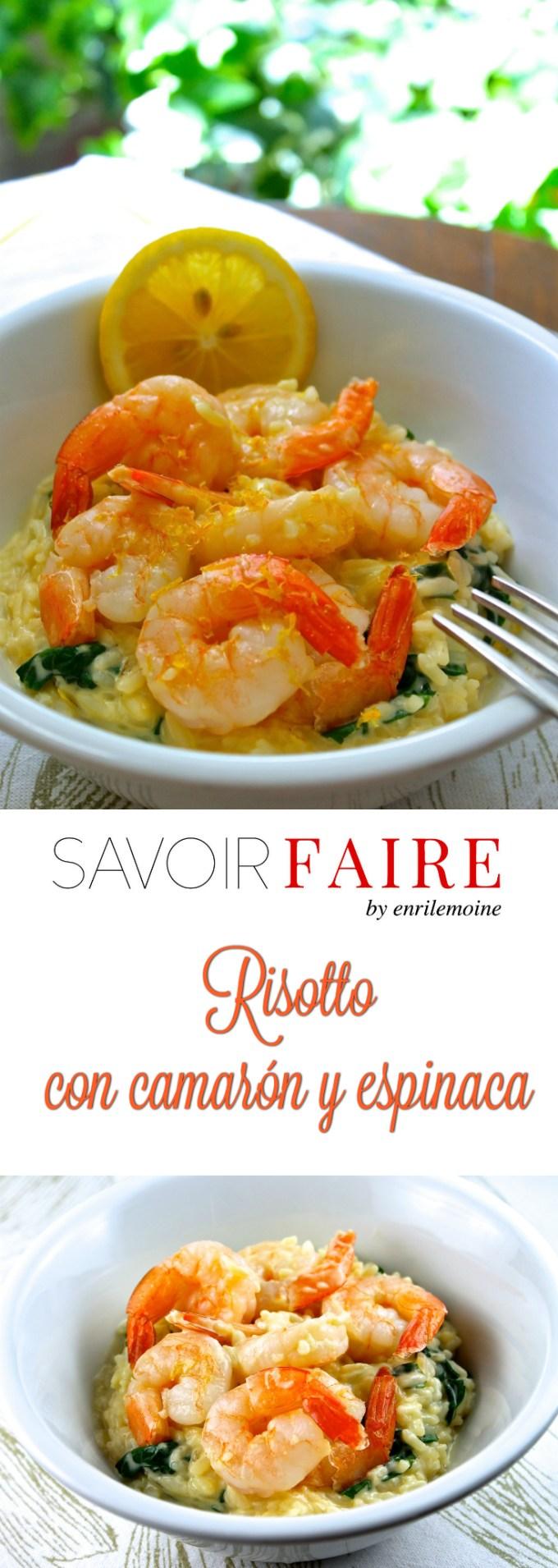 Esta receta de risotto con camarón y espinaca te permite tener una cena libre de gluten y deliciosa en 15 minutos: sin complicaciones y sin sacrificar sabor.