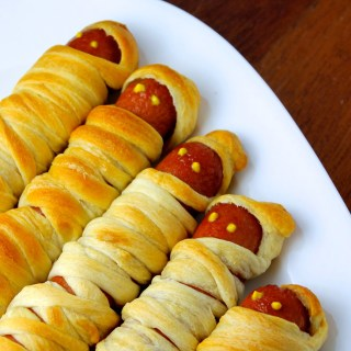 Hot Dog Mummies for Halloween