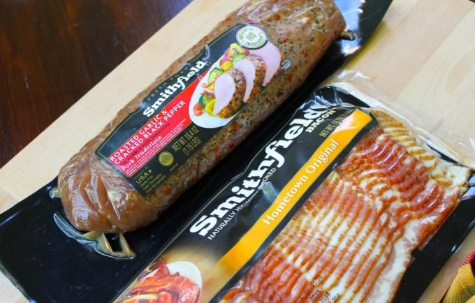 ingredientes para Lomo de cerdo envuelto en tocineta