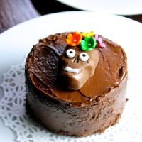 Mini pasteles de chocolate {Día de Muertos}
